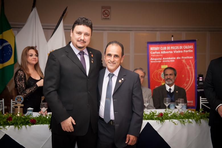 O Presidente e o Vice Presidente, Cp. Mário Sérgio Macedo de Araújo.