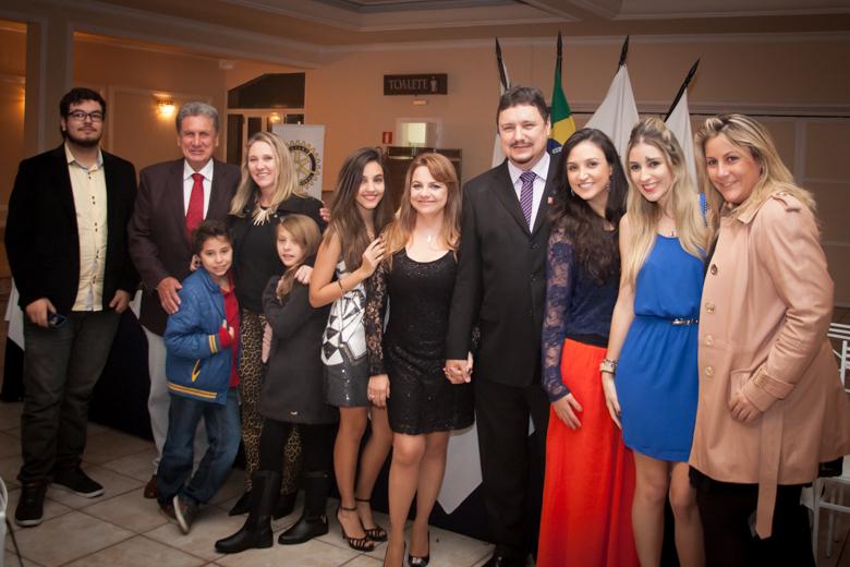 A posse do Presidente foi prestigiada por seus familiares.
